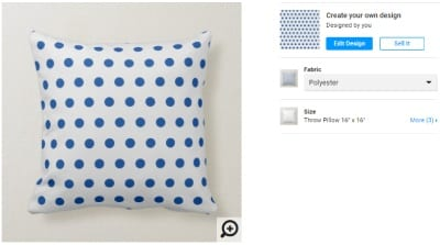 Post a Pillow for Sale on Zazzle