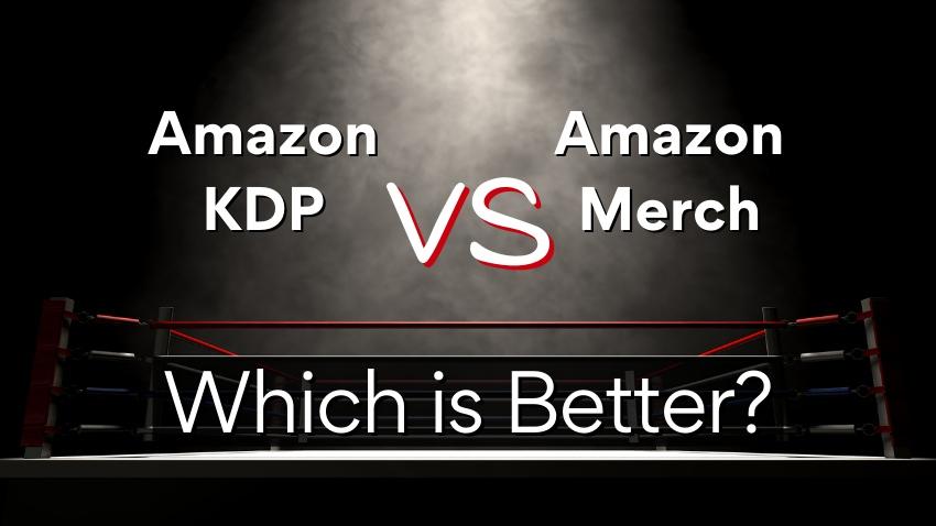 Amazon KDP VS Amazon Merch Cover Photo