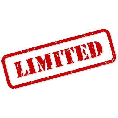 A sign saying limited
