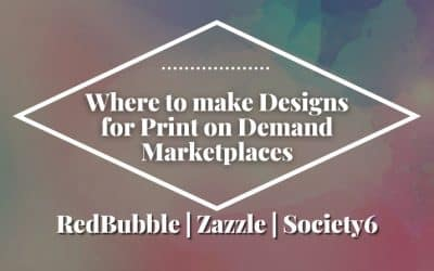 Where to Make Designs for RedBubble, Zazzle, and Society6 for Free