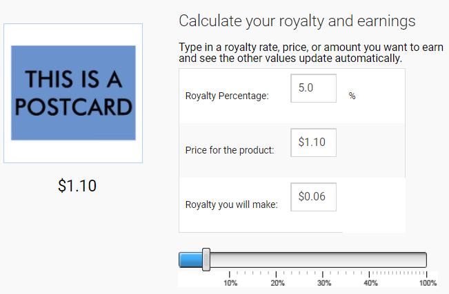 5% Zazzle Royalty