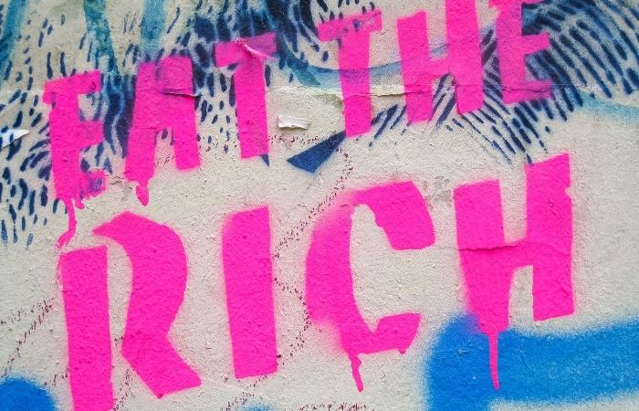 Where did the phrase eat the rich originate - Cover Photo