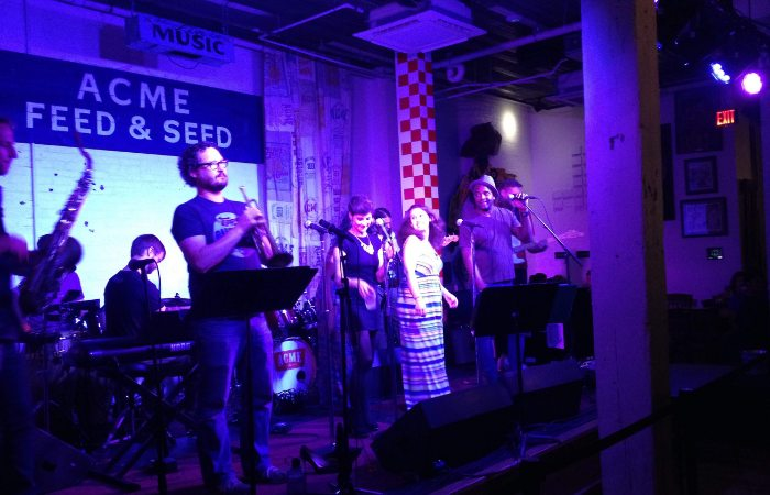 a photo of band playing music live at a venue in Nashville