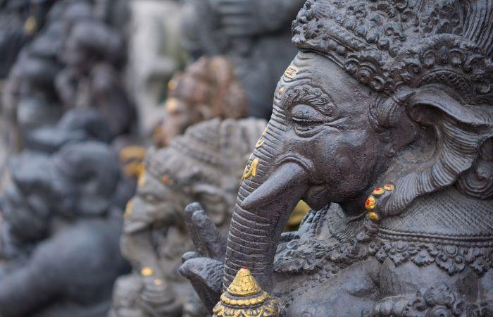 a elephant statue in Bali