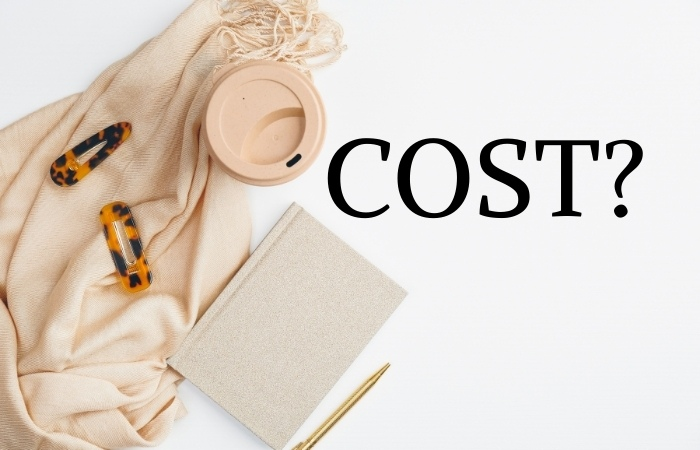 """a book in the background with text overlaying that reads """"cost?"""""""