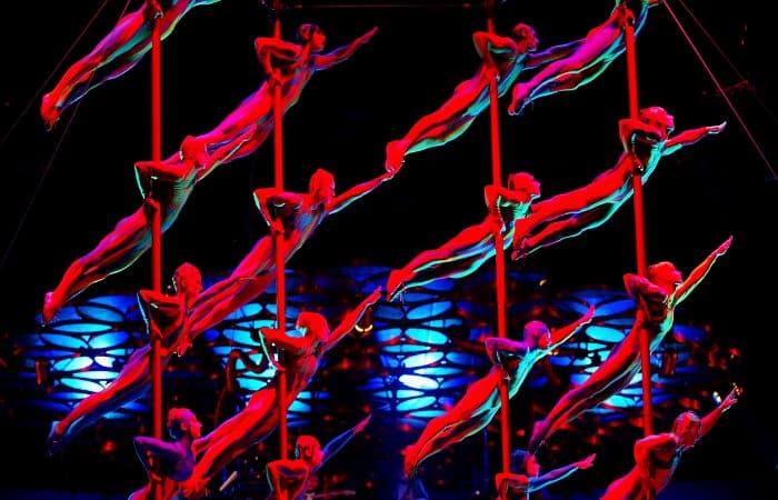 circus act in Las Vegas