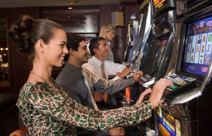 a photo of people gambling in Las Vegas