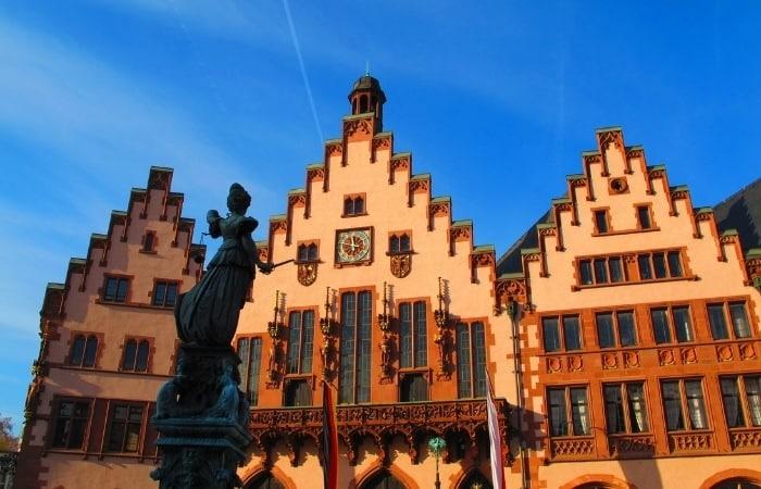 the famous Romer in Frankfurt Germany